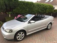 Astra Convertible 2002 1.8 silver black roof