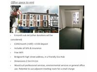 Office / Room to sub-let on Bridgnorth's High Street - all bills included and free WiFi