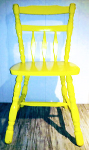 VICTORY GARDEN Dining Chair HARDWOOD Antique Vintage