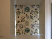 ROMAN BLIND, MADE TO MEASURE, 'SYMPHONY WISTERIA' MATERIAL DESIGN