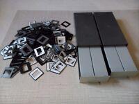 4 (2x50 slides) Gepe Slide Magazine with approx 300 Jessops glassless 35mm reusable slide mounts.