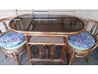 Wicker table 2 chairs