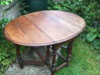 Dining table, solid oak, traditional, drop leaf, shabby chic