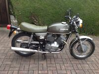 1977 Moto Morini 350cc Strada. Mileage 18990. Currently on SORN.