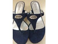 Genuine ladies Guess sandals only worn twice very good condition.