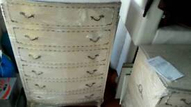 Antique French style chest of drawers