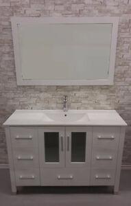 "48"" White Ceramic Top Bathroom Vanity"