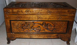 Oriental Camphor Wood Blanket Box