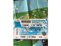 Creamfields standard - 4 day camping tickets