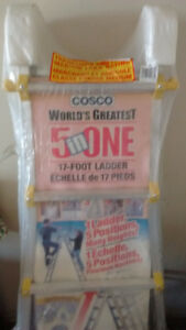 "Cosco World's Greatest 5 in one 17"" foot ladder."