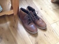 Boots, brown, size 10 hardly worn. £15
