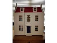 Dolls House - Wooden John Lewis with furniture