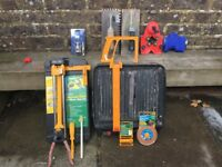 Selection of Tiling Tools incl Electric Cutter, Trowels and Hole Cutters