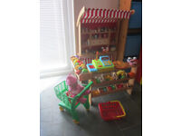 childrens wooden toy shop with loads of extras