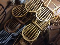 Job lot of 40 pine chairs