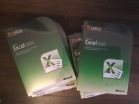 8 copies of Microsoft Excell 2010 ( unopened ) following company liquidation
