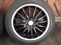 Alloy wheels multi fit Black
