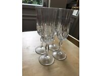 Crystal champagne/wine flutes