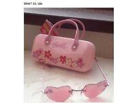 Barbie sunglasses and case. BNWT
