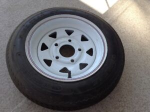 Radial Trailer tire Mounted