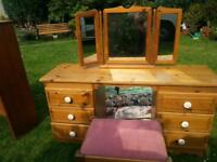 dressing table stool mirror cabinet will seperate wall shelving