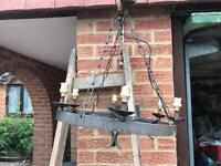 Wrought iron 6 light ceiling x2