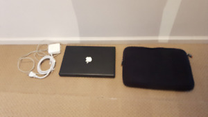 Apple MacBook Core2Duo Laptop (Black) with case included