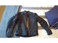 Men's RST slice textile jacket, Black -White Excellent condition.Size L