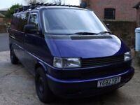 2001 Volkswagen VW T4 Transporter LWB 2.5 TDI 102 BHP camper van night heater cruise control