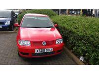 vw polo 1.4 automatic red 5dr 2000