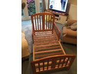 Wooden Toddler Bed excellent condition