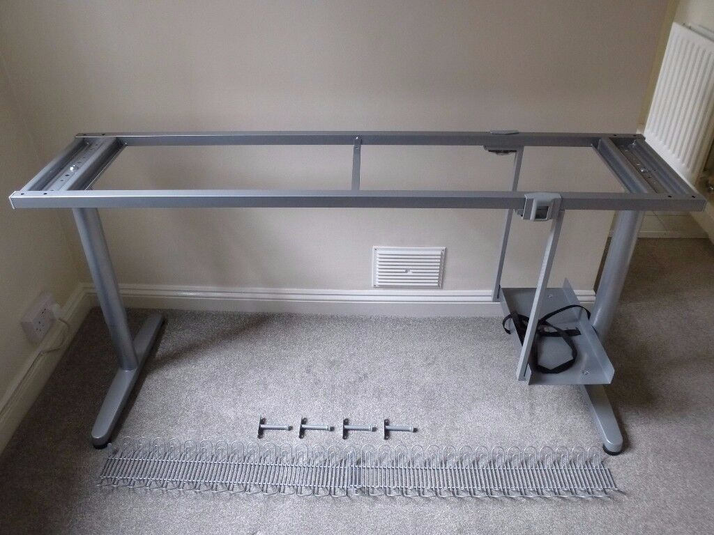 ikea galant 63 office desk frame legs cable management organizer under desk computer holder. Black Bedroom Furniture Sets. Home Design Ideas