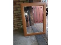 Wooden Framed Mirror - Reduced