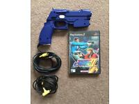 PlayStation 2 Time Crisis game and Namco GunCom light gun