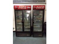 Coca Cola Single And Double Glass Door Fridges In Full Working Order Will Split If Required