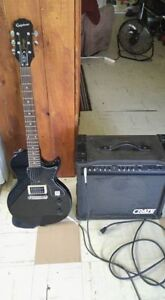 Epiphone and crate gx 65 amp