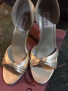 Ivory Satin Shoes- Dyeable