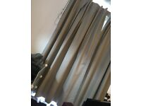 Grey blackout curtains aprox. 71inches
