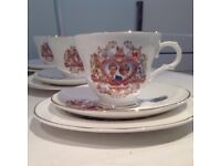 Lady Diana Spencer and Prince Charles marriage Comemorative Teaset