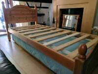 Wooden Bed Frame With Fold Out Bed