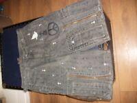 Elvis Jesus 100% cotton combat shorts - designer brand RRP approx. £80