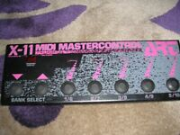MIDI Master Controller X-11 by ART; 100 slots; Excellent condition.
