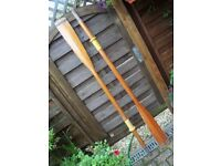 pair Boat / Dinghy timber Oars