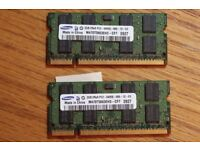 [Samsung] 4GB 2x2GB DDR2-800 Lot of 2 (Laptop)