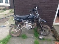 110 clutched pitbike
