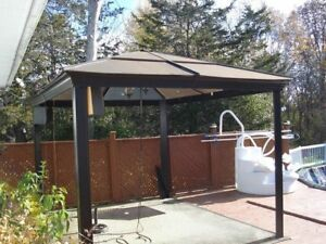 10x12 solid roof Gazebo