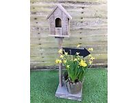 Birdhouse with Chalkboard Arrow - 78cm