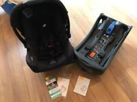 Joie +0 Gemm car seat with isofix base