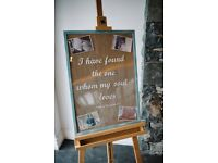 Wedding frame/sign with bible verse