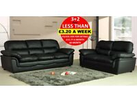 HALF PRICE LEATHER SOFAS AND CORNER GROUPS - Quick Delivery Black Brown Ceam